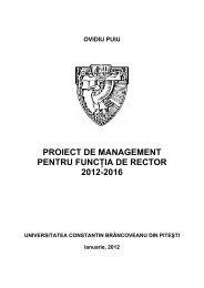 Program managerial - Universitatea Constantin Brancoveanu