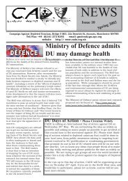 CADU News 10 - Campaign Against Depleted Uranium