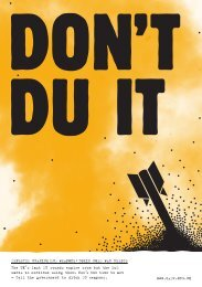 Don't DU It - Campaign Against Depleted Uranium