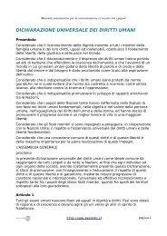 dichiarazione universale dei diritti umani - Associazione Macondo