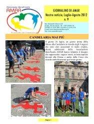 Giornalino di Amar n 9 agosto 2012 - Associazione Macondo