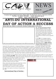 CADU News 11 - Campaign Against Depleted Uranium