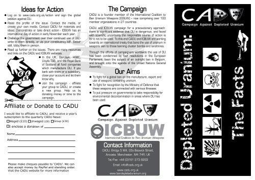 Depleted Uranium: The Facts - Campaign Against Depleted Uranium