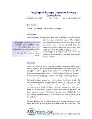 Intelligent Pumps Improve Process Operations
