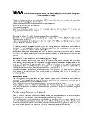 Procedimentos para envio de amostras - Intranet.ima.mg.gov.br