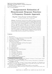 Nonparametric Estimation of Hemodynamic Response ... - VTeX