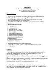 Protokoll der Jahreshauptversammlung 2008 - TG Rangenberg