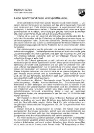 Bericht des Vorstands - TG Rangenberg