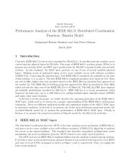 Performance Analysis of the IEEE 802.11 ... - Mobile Networks