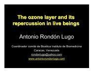 capa de ozono en ingles - Antonio Rondón Lugo