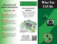 What You Can Do - Shasta Mosquito