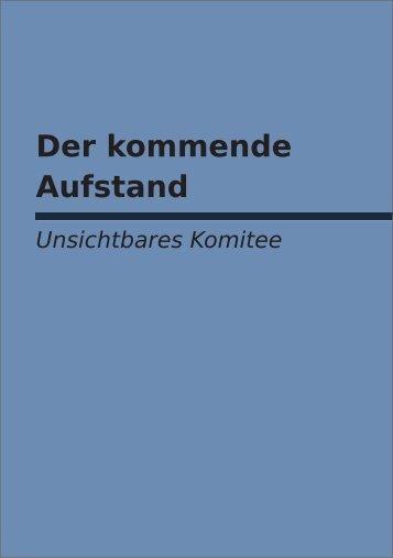 Der kommende Aufstand - Zeitdiagnose.de