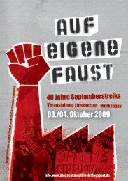Aufruf zur Veranstaltung als PDF - Klassenkampfblock - blogsport.de