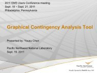 Graphical Contingency Analysis Tool - EMS Users Conference