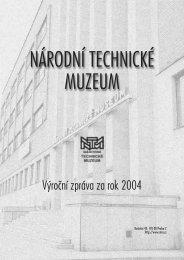 Výroční zpráva 2004 - Národní technické muzeum