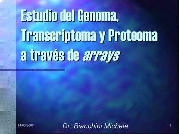 Estudio del Genoma, Transcriptoma y Proteoma a traves de arrays