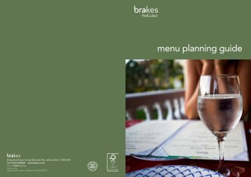 Download our Menu Planning Guide - Brakes
