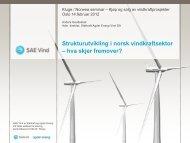 Vindkraft i Norge – Utfordringer og muligheter sett fra en ... - Kluge