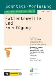 Sonntags-Vorlesung Patientenwille und -verfügung - Ostalb-Klinikum