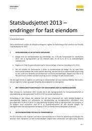 Statsbudsjettet 2013 – endringer for fast eiendom - Kluge