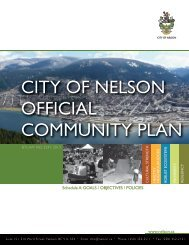 Schedule A Goals / Objectives / Policies [PDF - 8.5 MB] - City of Nelson