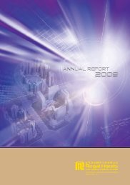 Annual Report 2009 - Investor Relations - Regal Hotels International