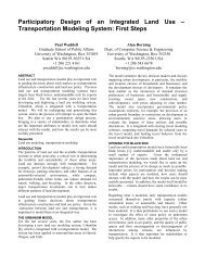 Participatory Design of an Integrated Land Use ... - CiteSeerX