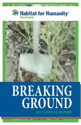Breaking Ground - 2013 Annual Report