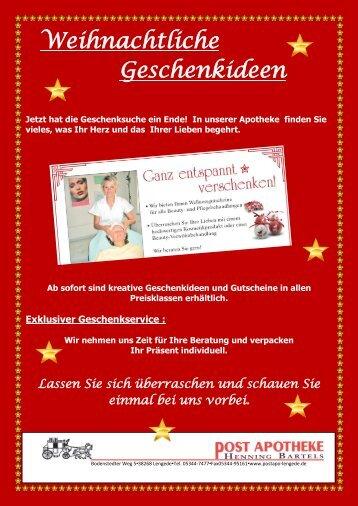 Exklusiver Geschenkservice - Post Apotheke