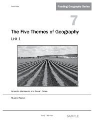 The Five Themes of Geography (Unit 1) - Portage & Main Press