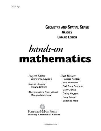 Geometry and Spatial Sense, Grade 2 - Portage & Main Press