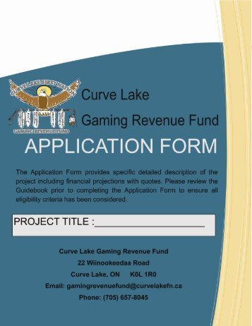 GRF Application Form (pdf - 1975KB) - Curve Lake First Nation