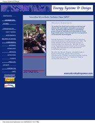 Energy Systems & Design Ltd. (ES&D) - Pole Shift Survival Information