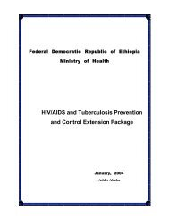 HIV/AIDS and Tuberculosis Prevention and Control Extension ...