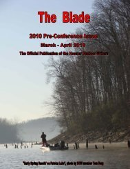 March/April 2010 newsletter (2 MB) - Hoosier Outdoor Writers