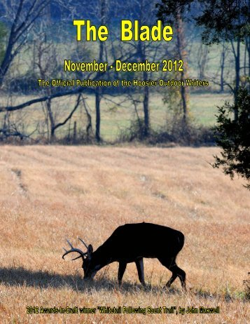 November/December 2012 newsletter - Hoosier Outdoor Writers