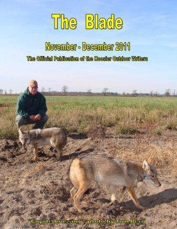 November/December 2011 newsletter - Hoosier Outdoor Writers