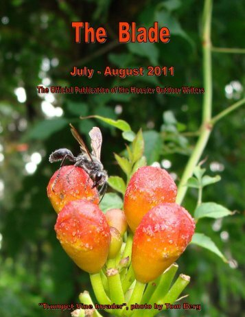 July/August 2011 newsletter (1.5 MB) - Hoosier Outdoor Writers