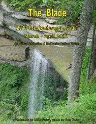 March/April 2011 newsletter (2.0 MB) - Hoosier Outdoor Writers
