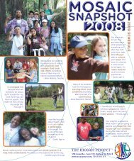 2008 Snapshot - The Mosaic Project