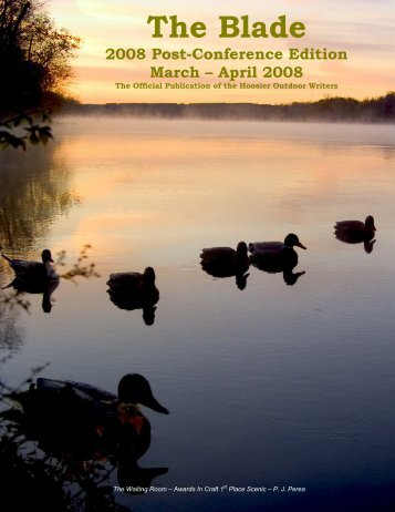 March/April 2008 newsletter - Hoosier Outdoor Writers