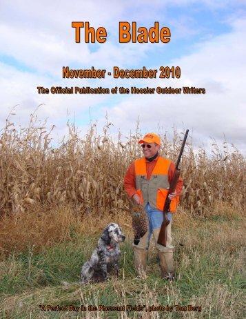 November/December 2010 newsletter - Hoosier Outdoor Writers
