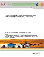Flight Crew Fatigue Management Working Group Draft Report - HAC