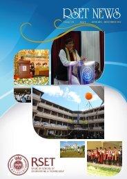 RSET NEWS Jan -Dec 2012 Vol VII Issue I - Rajagiri School of ...