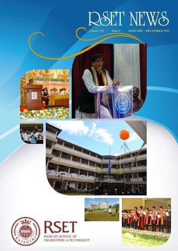 RSET NEWS Jan -Dec 2012 Vol VII Issue I - Rajagiri School of ...