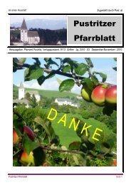 Gottesdienste in Pustritz - APA