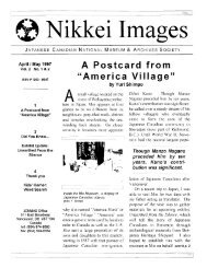 Volume 2 No. 1 (PDF) - Nikkei National Museum & Cultural Centre
