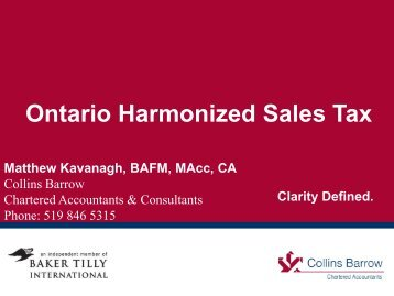 Ontario Harmonized Sales Tax