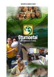 SPORTS DIRECTORY - Otumoetai Intermediate School