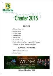 Waipipi School's charter - Otumoetai Intermediate School